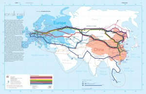 Карта железных дорог Нового Шёлкового пути