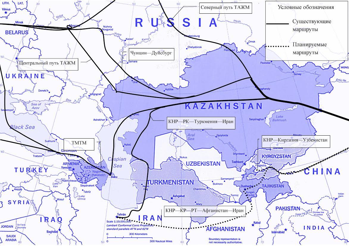 В XXI в. китайский Шелковый путь пройдет по железным дорогам Центральной Азии